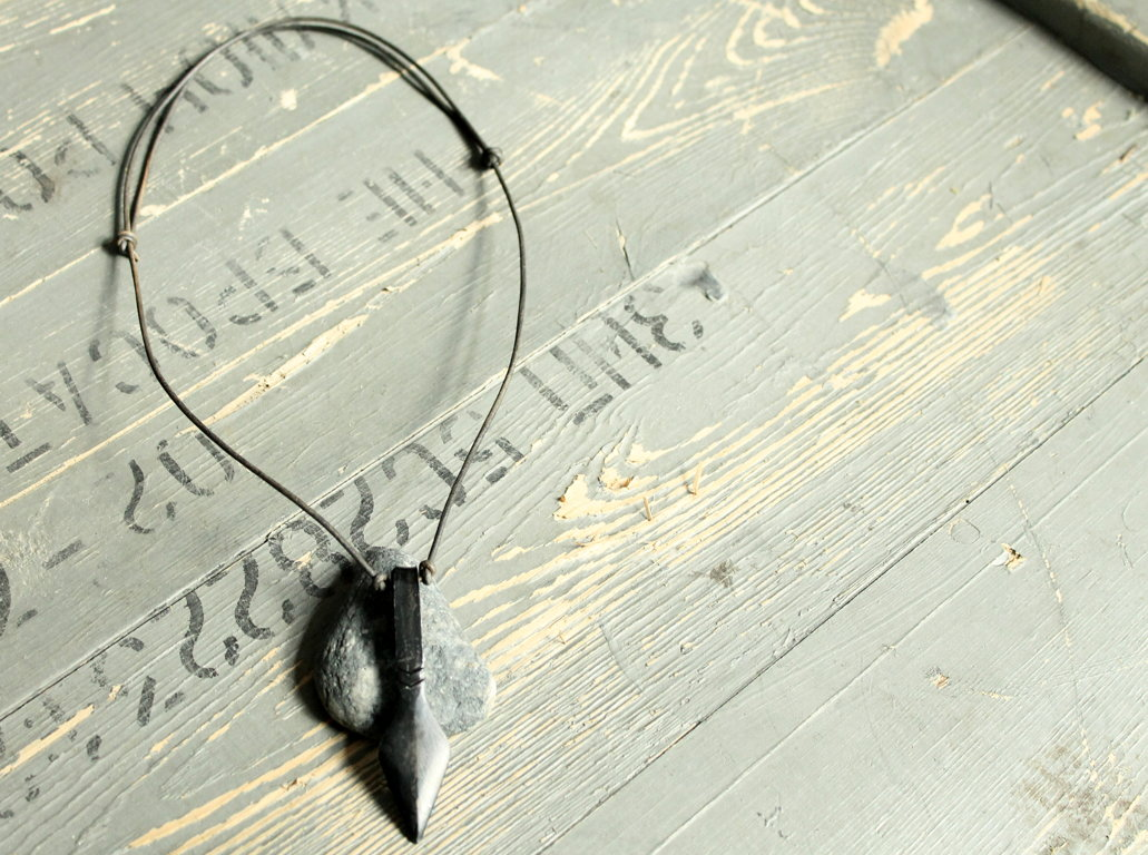 Hand forged pendant- arrows