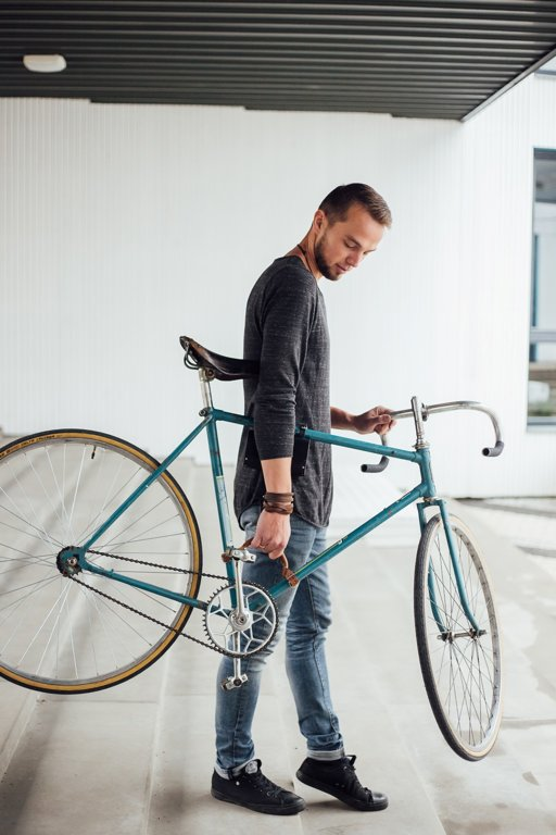 Bicycle Leather Frame Handle