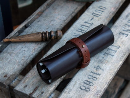 Leather pen cases